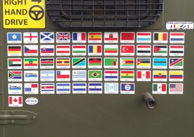 vehicle flag stickers